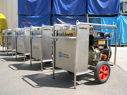 Centrales-hidraulicas Power Packs para derrames de petróleo en el mar