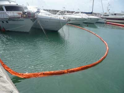 barreras absorbentes faldon skirted sorbent booms1 | Skirted sorbent booms