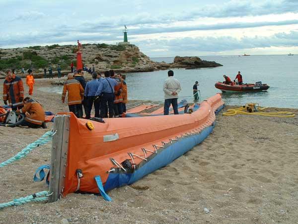 barreras selladoras playa2 | Beach sealing booms S Series