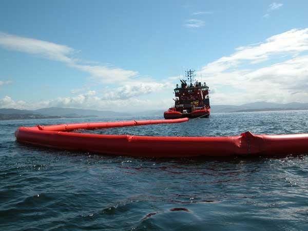 Barreras de contención marinas flotantes e inflables Serie Z