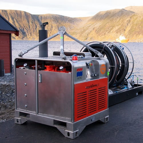Hydraulic power packs for oil spill operations